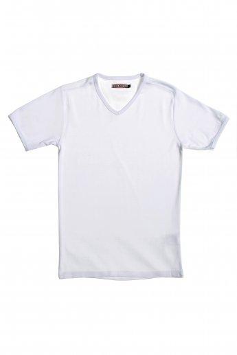 Basic Shirt PETROL - white