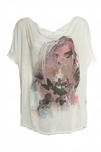 Print Shirt M.O.D - white