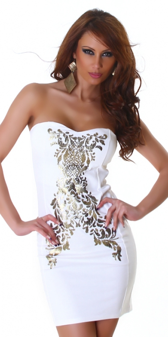 Bandeau Dress - white