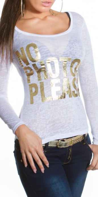 Pullover NO - white