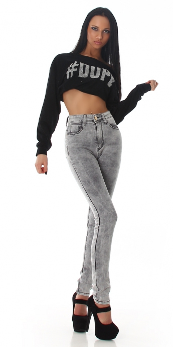 High Waist Skinny - grey