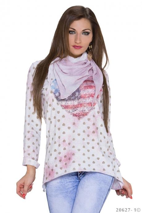 Longshirt U.S.A - rose