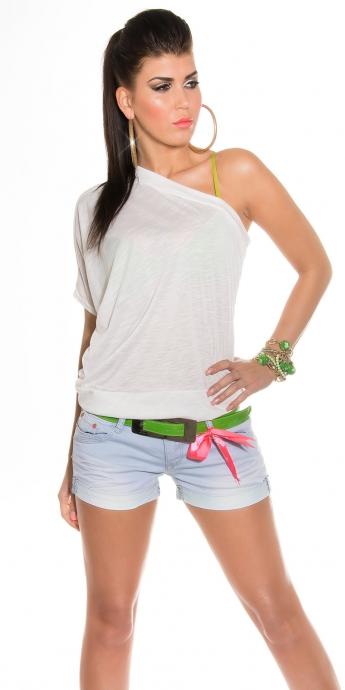 One Shoulder Shirt - white