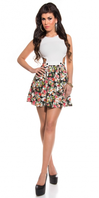 Kleid Cut Outs - white