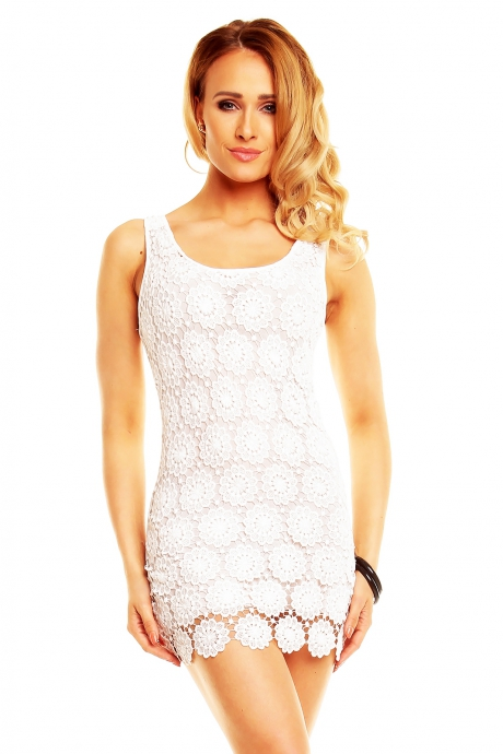 Kleid Patty Moon  - white