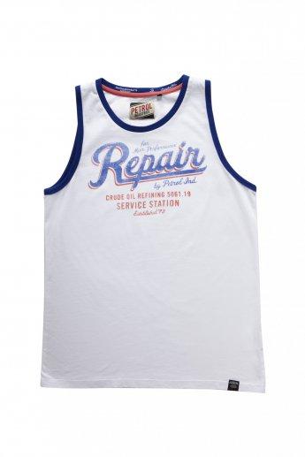 Muscle Shirt Petrol - white