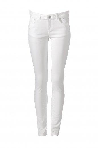 Skinny Röhrenjeans - white