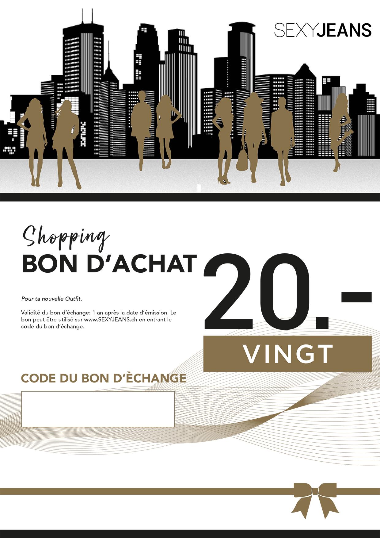 Bon d`achat CHF 20.00