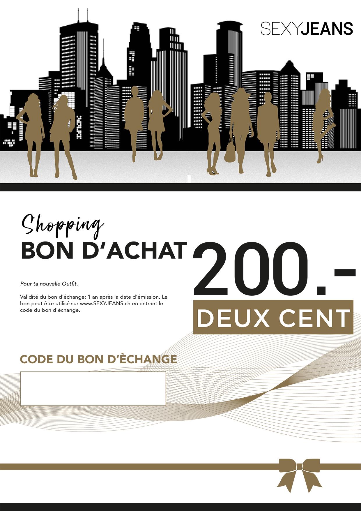 Bon d`achat CHF 200.00
