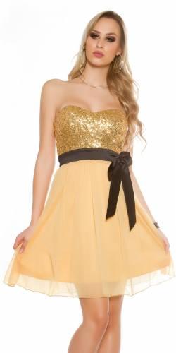 Minikleid - gold