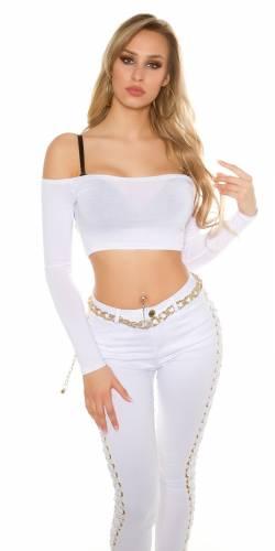 Bolero Pullover - white
