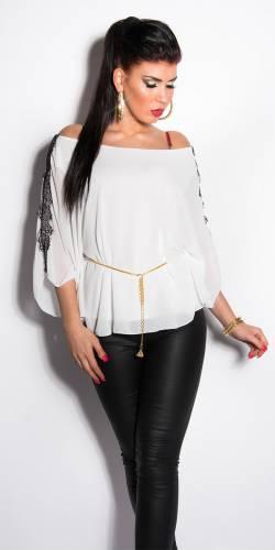 Blusen Shirt Ina - white