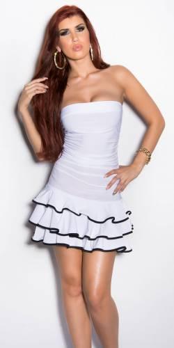 Bandeau Minidress - white