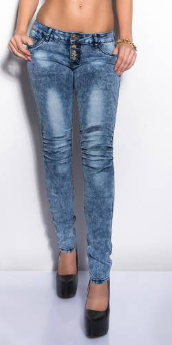 Jeans Acidwashed - dark blue