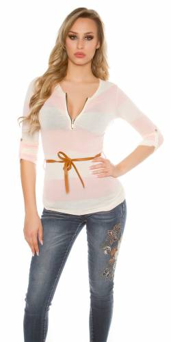 Feinstrick Shirt - rose