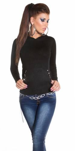 Feinstrick Glamour - black