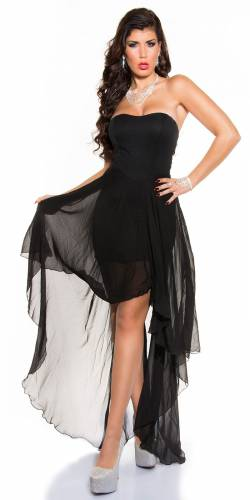 High-Low Kleid - black