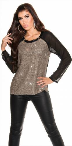 Pullover 2in1 - brown