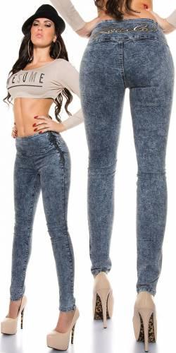 Highwaist Jeans Acid - blue