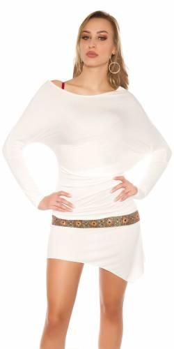 Boho Minikleid - white