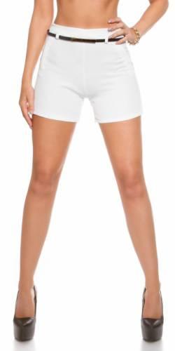 Shorts & Gürtel - white