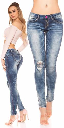 Used Look Jeans - blue