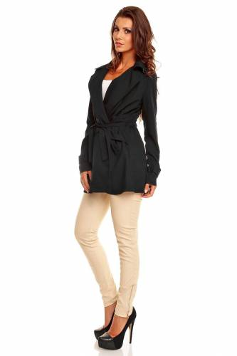 Cardigan Mantel - black
