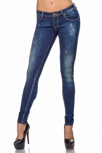 Strass Jeans - blue