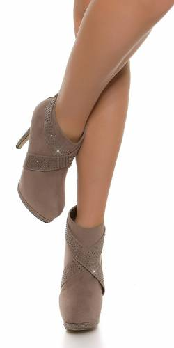 Plateau-High Heel - grey