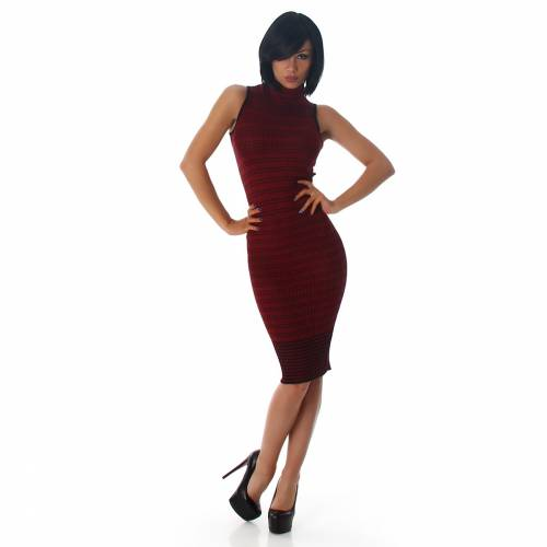 Feinripp Kleid - red