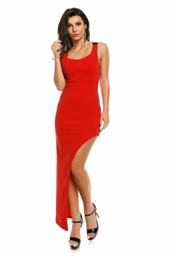 Kleid Paisley - red