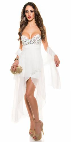 Cocktail Kleid - white