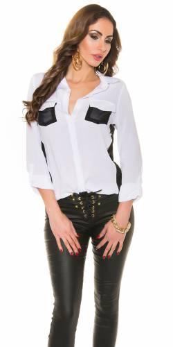 Chiffon Bluse - white