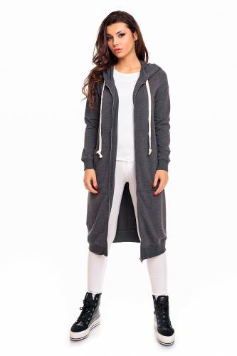Long Sweatjacke - dark grey