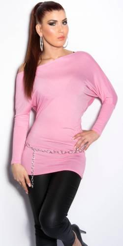 Fledermaus-Shirt - rose