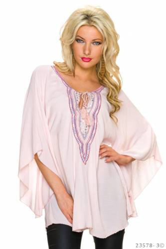 Tunika Bluse - rose