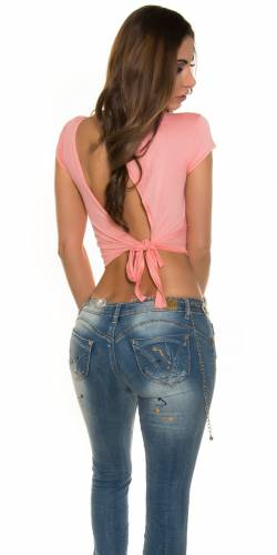 Koucla-Crop top - coral