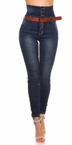HighWaist Jeans - dark blue