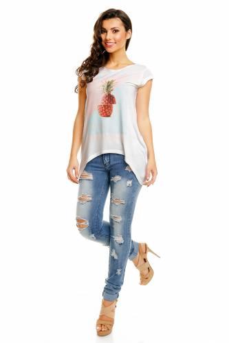 Shirt Print - blanc