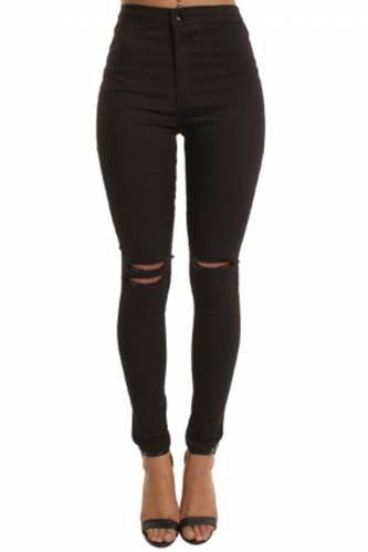 High Waisted Jeans - black