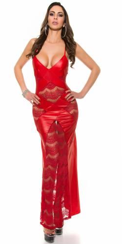 Wetlook Kleid - red