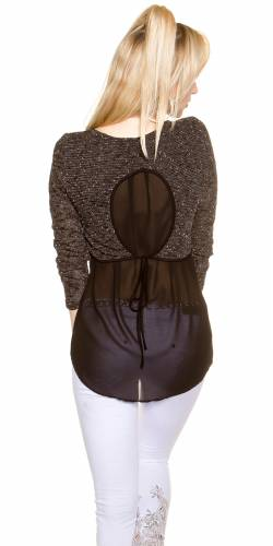 2in1 LangarmShirt - black