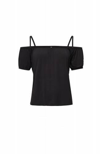 Shoulder Top - black