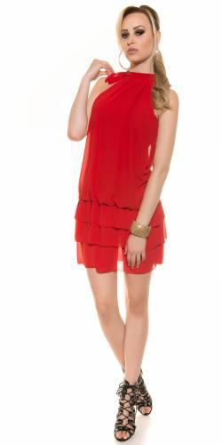 Chiffon Kleid - red