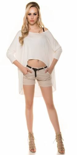 KouCla Crop Shirt - white