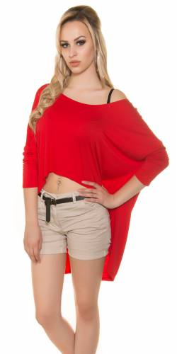 KouCla Crop Shirt - red