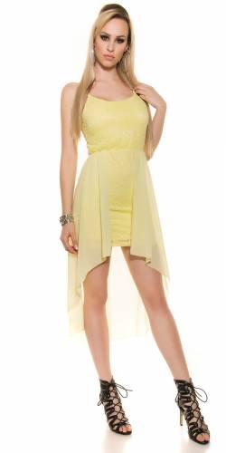 HighLow Kleid - yellow