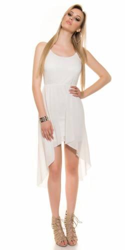 HighLow Kleid - white