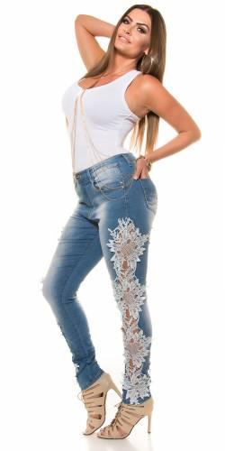 Spitzen Jeans - blue