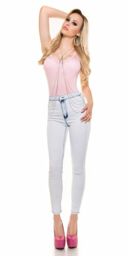 Highwaist Skinny - pale blue